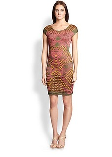 M Missoni Printed Metallic Jacquard Dress