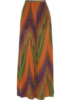 M Missoni Printed silk wide-leg pants
