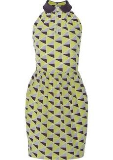 M Missoni Printed washed-silk dress