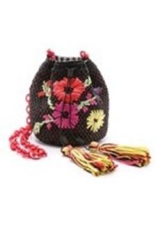 M Missoni Raffia Embroidered Bucket Bag
