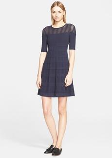M Missoni Rib Stitch Elbow Sleeve Dress