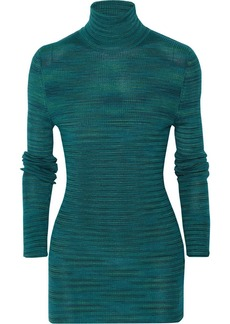 M Missoni Ribbed-knit wool-blend turtleneck top