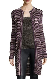 M Missoni Ripple-Stitch Snap-Front Long Coat  Ripple-Stitch Snap-Front Long Coat