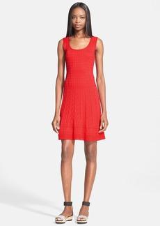 M Missoni Scoop Neck Flared Knit Dress