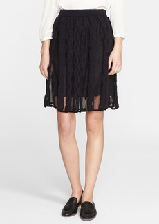 M Missoni Sheer Greek Key Knit Skirt