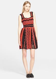 M Missoni Sheer Greek Key Sleeveless Dress