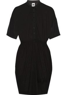 M Missoni Silk-paneled modal and wool-blend dress