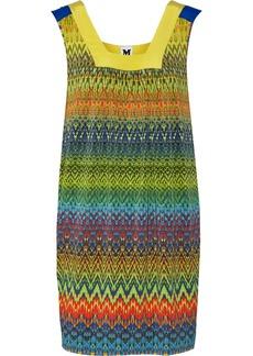 M Missoni Silk-trimmed printed stretch-jersey dress