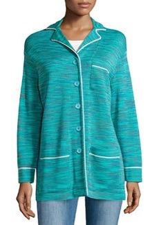 M Missoni Skinny-Stripe Jacket, Turquoise
