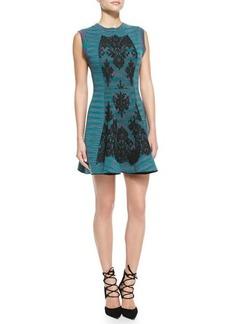 M Missoni Space Dye Lace-Detail Double-Knit Dress