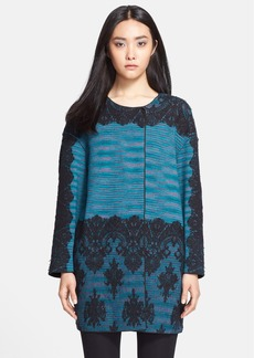 M Missoni Space Dye Lace Overlay Coat