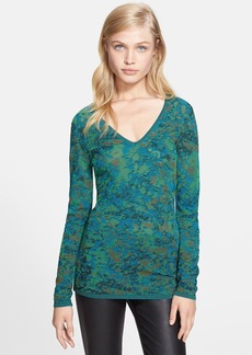 M Missoni Space Dye Marble Knit Top