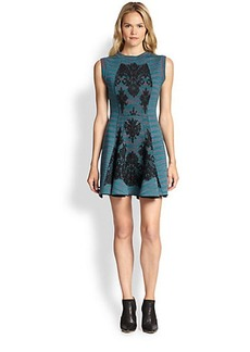 M Missoni Spade-Dyed Lace Overlay Dress