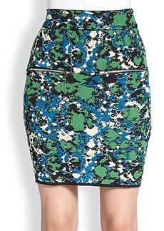 M Missoni Splatter-Print Jacquard Skirt