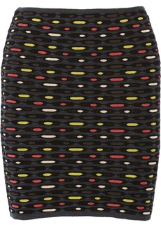 M Missoni Stretch crochet-knit mini skirt