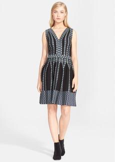 M Missoni Stretch Jacquard V-Neck Fit & Flare Dress