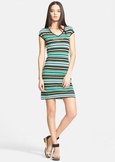 M Missoni Stripe V-Neck Knit Dress