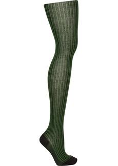 M Missoni Striped merino wool-blend tights