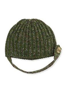 M Missoni Tab-Button Knit Beanie Hat