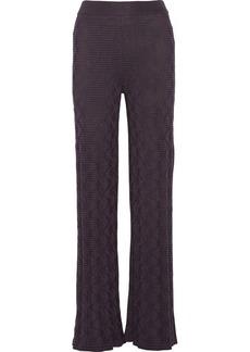 M Missoni Textured cotton-blend wide-leg pants