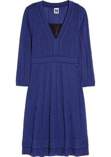 M Missoni Textured-knit wool-blend dress