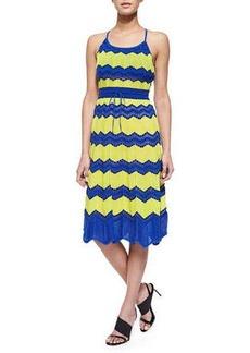 M Missoni Tie-Back Dotted Wave-Print Sundress