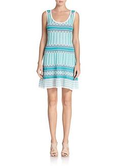 M Missoni Tile-Pattern Knit Dress