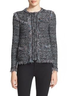 M Missoni Tweed Fringe Jacket