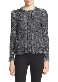 M Missoni Tweed Fringe Jacket