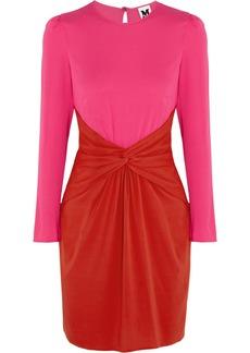M Missoni Two-tone stretch silk-crepe dress
