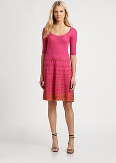 M Missoni Two-Tone Wave-Stripe Dress