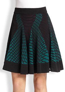 M Missoni Web-Knit Flared Skirt