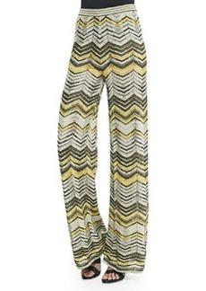 M Missoni Wide-Leg Zigzag Pants