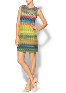 M Missoni Zig Zag Print Silk Shift Dress