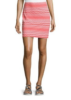 M Missoni Zigzag Pencil Skirt, Orange/Pink