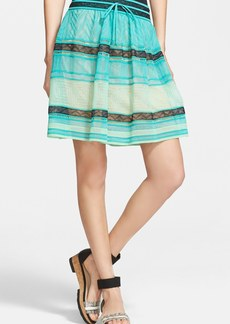 M Missoni Zigzag Print Sheer Tiered Skirt