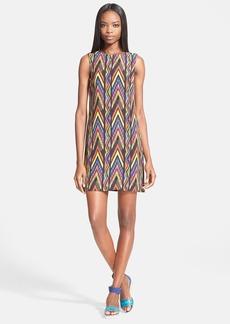 M Missoni Zigzag Print Silk Shift Dress