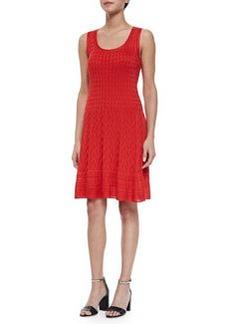 Sleeveless Multi-Pattern Fit & Flare Dress   Sleeveless Multi-Pattern Fit & Flare Dress