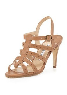 Aniage Studded Ladder Sandal, Luggage   Aniage Studded Ladder Sandal, Luggage