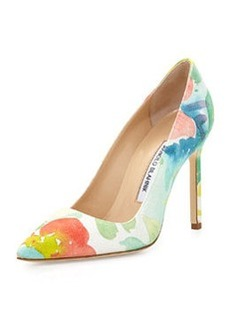 BB Floral Watercolor Pump, Pink Multi   BB Floral Watercolor Pump, Pink Multi