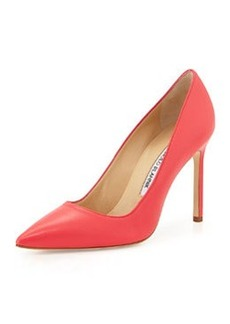 BB Leather 105mm Pump, Hot Pink   BB Leather 105mm Pump, Hot Pink