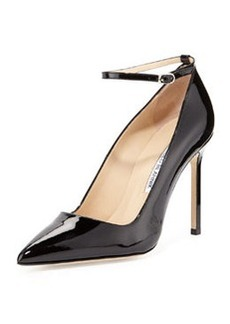BB Patent Ankle-Strap Pump, Black   BB Patent Ankle-Strap Pump, Black