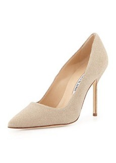 BB Sparkle-Suede Pump, Cream   BB Sparkle-Suede Pump, Cream