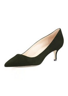 BB Suede 50mm Pump, Loden   BB Suede 50mm Pump, Loden