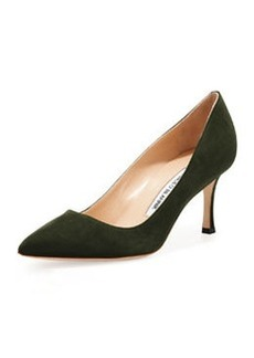 BB Suede 70mm Pump, Loden   BB Suede 70mm Pump, Loden