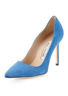 BB Suede Point-Toe Pump, Blue   BB Suede Point-Toe Pump, Blue
