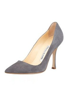 BB Suede Point-Toe Pump, Gray   BB Suede Point-Toe Pump, Gray