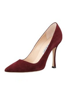 BB Suede Point-Toe Pump, Wine   BB Suede Point-Toe Pump, Wine