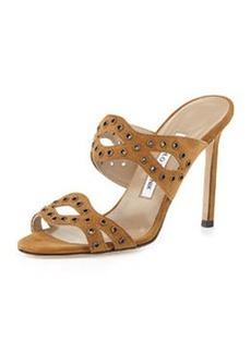 Cridamu Suede Grommet Slide Sandal   Cridamu Suede Grommet Slide Sandal