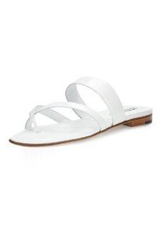 Manolo Blahnik Crisscross Patent Thong Sandal